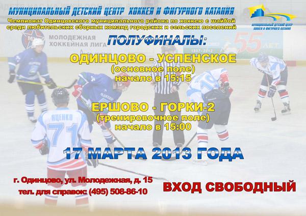 Чемпионат по хоккею среди дворовых команд Одинцовского района