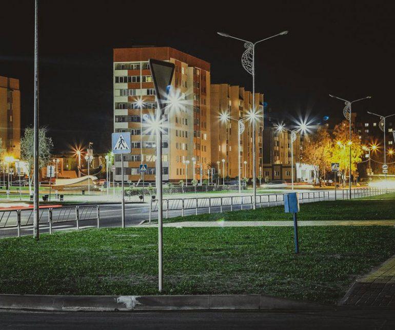 В военных городках, Одинцовский район, модернизируют, системы уличного освещения